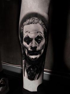 #tattoos #joker #joaquin Edge Design, Jokers, Dark Knight, The Darkest, Black And Grey, Tattoo Designs, Sketch, Ink, Tattoos