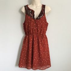 Cute Dress Crimson Color Dress, Short Sleeve, Open Back, waist is stretchy, From waist to bottom is about 18 inches Dresses