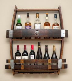 Looking for Whiskey Rack ? Check out our picks for the Whiskey Rack from the popular stores - all in one. Wine Glass Holder, Wine Bottle Holders, Wine Bottle Crafts, Whisky Regal, Wood Wine Racks, Flat Shapes, Do It Yourself Home, Glass Shelves, Solid Oak