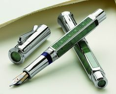 The new Graf von Faber Castell Pen of The Year 2011 is a combination of jade and platinum. In reference to the year when Faber-Castell was founded this limited edition pen is restricted to 1761 pe… Stylo Art, Luxury Pens, Fine Pens, Pen Collection, Pen Turning, Writing Pens, Nice Writing, Letter Writing, Writing