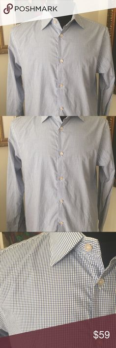 🎁SCOTCH AND SODA MENS SHIRT 💯AUTHENTIC SCOTCH AND SODA MENS DESS SHIRT 100% AUTHENTIC. THIS SHIRT HAS NEVER BEEN WORN STUNNING AND STYLISH BLUE AND WHITE PLAID. FITTED SIZE LARGE Scotch & Soda Shirts Casual Button Down Shirts