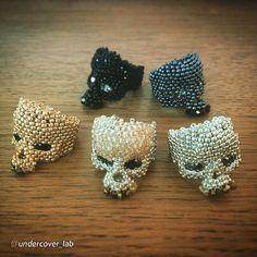 Beaded Skull Rings