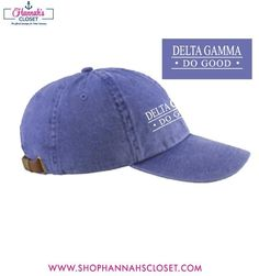 """All """"Do Good"""" Week 2015 - Delta Gamma """"Do Good"""" Embroidered Hat -"""