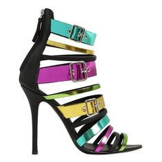 Giuseppe Zanotti Multicolor 110mm Metallic Patent Leather Sandals