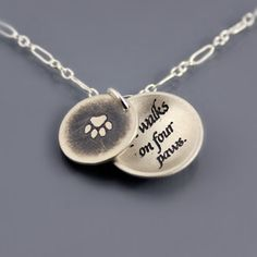 Reminds me of Hunter...Love Walks on Four Paws Necklace by Lisa Hopkins Design