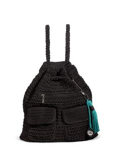 A Sak on every back.  Pack up for the day with our easy to carry crochet backpack, perfectly stylish for any age.