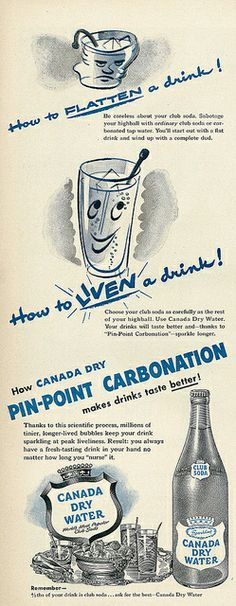 1950 Illustrated Beverage Ad, Canada Dry Water Club Soda by classic_film, via Flickr