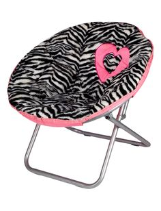 Zebra Fur Saucer Chair | Chairs | Room Accessories | Shop Justice