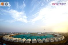Maximum Comfort with a Magnificent View #TentCity #RannUtsav