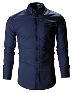 FLATSEVEN Mens Checker Pocket Stretch Casual Dress Shirts... https://www.amazon.com/dp/B01H3ERX9G/ref=cm_sw_r_pi_dp_n7cMxb8E65665
