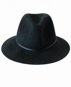Black Felt Fedora Hat via Lily and Violet
