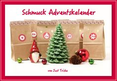 Schmuck Adventkalender von Just Trisha!!! 24 Türchen für schöne Weihnachtszeit. Mehr dazu auf meiner Seite: www.justtrisha.com Christmas Time, Christmas Ornaments, Calendar, Holiday Decor, Home Decor, Jewelry Shop, Advent Calendar, Xmas, Nice Asses