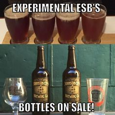 Big stuff 5pm-9pm tonight! Experimental ESB Pie Batch release (Cherry, Peach, Strawberry, & Blackberry Pie) and public release of JCB Bottles - J-Town Brown & Hopollo 13 IPA. $10 per bottle. Special deal for the holidays: One bottle & one Belgian Anniversary glass $15!
