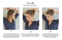 I don't think I could do the bun part, but I might be able to modify this for my hair.