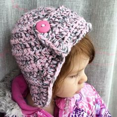 A personal favorite from my Etsy shop https://www.etsy.com/listing/243734200/childs-crochet-aviator-hat
