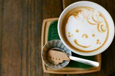 Cute Boy Coffee Art Design // Creative 3D Coffee Latte Art Pictures, Images & Designs