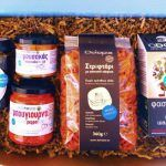 Premium produts and an exquisite selection from Attica, Domokos, Messinia and Thessaloniki in this Box in March 2016 Moussaka, Thessaloniki, Subscription Boxes, Mediterranean Recipes, Recipe Box, Sage, Greece, Honey, March