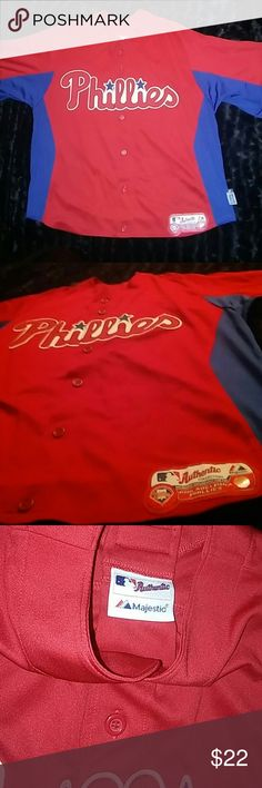 Kids Authentic Phillies Jersey Shirt Phillies Button Down Shirt . Kids. OS . brand NEW without tags !! Authentic Original Vintage Style Shirts & Tops