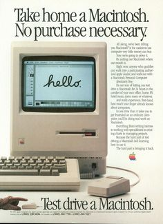 Apple Mac - When this thing came out it was considered a most beautiful object.  Something that inspired tremendous desire...