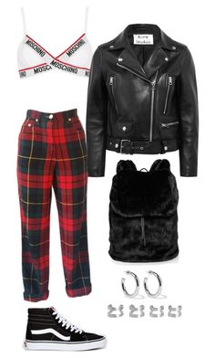 """""""Senza titolo #2417"""" by monsteryay ❤ liked on Polyvore featuring Moschino, Acne Studios, Vans, Puma, Sophie Buhai and Maison Margiela"""