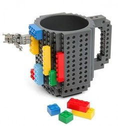 This Lego Coffee Mug allows you to build something cool while you sip your coffee. The mug is BPA free and works well for coffee, tea, and 12 ounces of your other. Best Coffee Mugs, Coffee Lover Gifts, My Coffee, Coffee Time, Coffee Cups, Tea Cups, Coffee Lovers, Drink Coffee, Starbucks