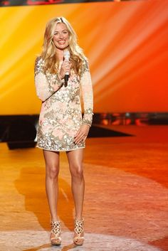 Cat Deeley in an All Saints dress and Jean-Michel Cazabet shoes