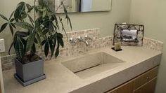 concrete sink/counter