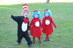 Cat in the Hat, Thing 1 and Thing 2...cute!