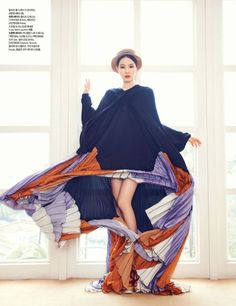 Jin Jung Sun by Ahn Joo Young for Harper's Bazaar Korea May 2012 via Korean Models