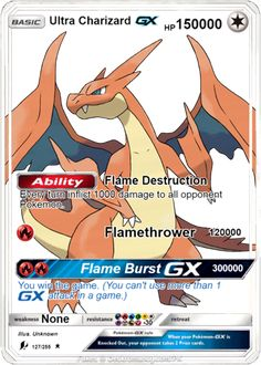 Pokemon orica proxy card Charizard GX holographic card please keep in mind this is an handmade card for any further question don't hesitate to contact me Each card starts as Pokemon Cards Charizard, Mega Charizard Ex, Pokemon Tcg Cards, Pokemon Cards For Sale, Cool Pokemon Cards, Mega Pokemon, Pokemon Fusion, Best Pokemon Card, Pikachu Art