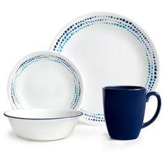 ***JUST BOUGHT THIS WITH MY IBOTTA CASH *** 7/11/15 Corelle 16-Piece Livingware Ocean Blues Dinnerware Set