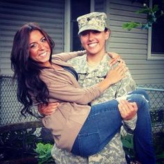 Maria & Ashley have been together for three years and are planning to legally wed once Ashley returns from her deployment. The end of DOMA would mean the ability to start their family legally protected as other military families are. Regardless, their love is stronger than DOMA in every way.
