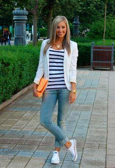 Cabecear Injerto Nacarado  60+ mejores imágenes de converse blancas   ropa casual, ropa de moda,  outfits casuales