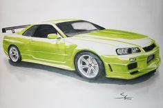 Nissan Skyline für ein guten Freund.      (gez. 07.2012)