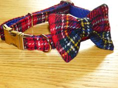 Patchwork Harris Tweed Dog Collars Bow Ties Leads Multicoloured Fashion For Dogs