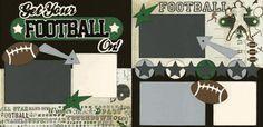 football scrapbook layouts - Google Search