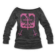 Polska Triple Crucifix Sweater Women (*Pink Glitter*) - Frauen Pullover mit U-Boot-Ausschnitt von Bella