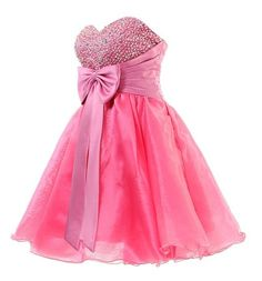 Cute Dresses for Teens   Cute short pink bow homecoming dresses prom party 2013 – 2014