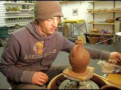 ▶ Matt Grimmitt Slipware Pottery Sprigging a bottle - YouTube