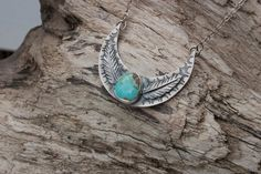 Turquoise Moon Sterling Silver and Royston Turquoise Necklace