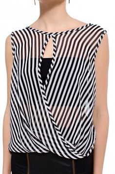 AKIRA Striped Twist Hem Tank Check out the website to see Couture, Mode Hijab, Dress Codes, Pulls, Refashion, I Dress, Designer, Clothes For Women, Stylish