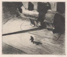 Edward Hopper.  Night Shadows, 1921.