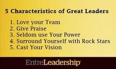 5 Characteristics of Great Leaders
