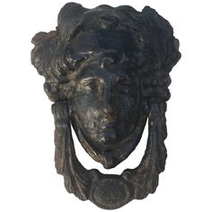 Early 19th Century Large Scale Georgian Door Knocker | From a unique collection of antique and modern architectural elements at…