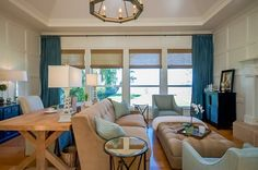Riverfront Family Room and Home Office  Family Room  Home Office  Transitional by Constance S Riik