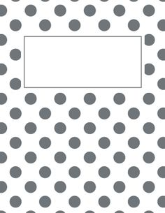 free printable black and white polka dot binder cover template jpg and pdf versions available