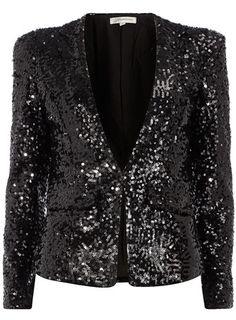 Dorothy Perkins Black Sequin Blazer $99