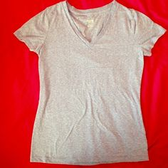 Lilac Vneck Tshirt Lilac and white v neck t shirt, worn once, soft material, great condition Mossimo Supply Co. Tops Tees - Short Sleeve