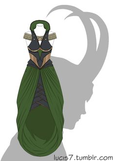 Loki'd dress by Lucis7.deviantart.com on @deviantART