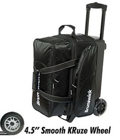 2 Balls 71095: Brunswick Flash C 2 Ball Roller Bowling Bag With Urethane Wheels Color Black -> BUY IT NOW ONLY: $69.9 on eBay! Bowling Accessories, Bowling Bags, Balls, Color Black, Wheels, Ebay